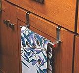 Moxstar Door Cabinet Steel Towel Bar Holder Drawer Hook Hanger for Kitchen�-(23,cm)