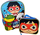 Ryan's World Let's Go 16 Inch Backpack with Insulated Lunch Box
