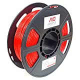 AIO Robotics AIORED PLA 3D Printer Filament, 0.5 kg Spool, Dimensional Accuracy +/- 0.02 mm, 1.75 mm, Red
