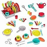 Battat- Set de Cuisine de Dinette pour Jeux d'Imagination (71 pièces incluant...