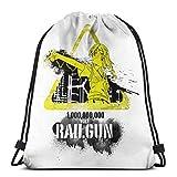 Yuanmeiju Bolsos con cordón Sport Gym Sack Party Favor Bags Wrapping Gift Bag Mochila con cordóns Storage Goodie Bags Cinch Bags Toaru Kagaku Misaka Mikoto