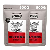 Ember Biltong 1KG Großbeutel - Beef Jerky Chili - Proteinreicher Snack - Chilli (2x500g)