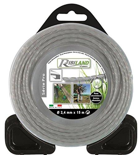 ribimex Filo professionale per decespugliatore quadrato, intrecciato, con anima in alluminio,...