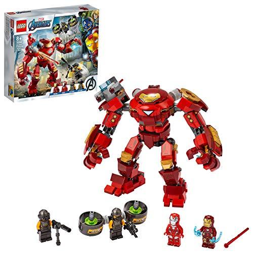 LEGO 76164 Marvel Avengers Iron Man Hulkbuster vs. A.I.M.-Agent, bewegliche Mech-Actionfigur