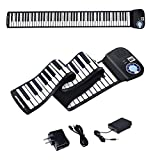 BABY JOY 88 Keys Roll Up Piano, Upgraded Electronic Piano Keyboard, Portable Piano w/Bluetooth, MP3 Headphone USB Input, MIDI OUT, 128 Rhythms, Record, Play, Volume Control (Black, 88Keys)