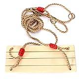 SODIAL(R) Balancoires oscillant en bois avec corde pour les adultes et enfants