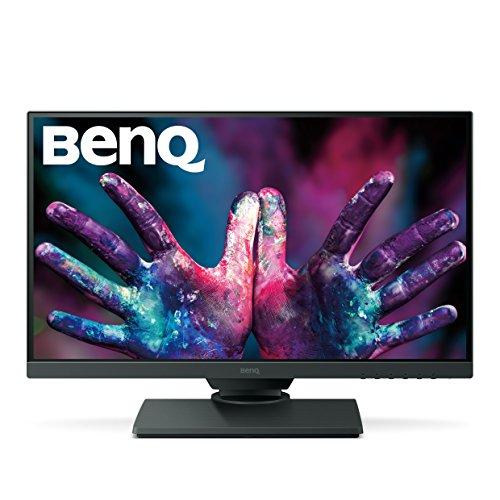 BenQ PD2500Q 25 inch 2K DesignVue Designer Monitor, 1440p QHD, IPS, 100% Rec.709 and sRGB, Factory Calibrated, Eye-Care, Anti-Glare, Ultra Slim Bezel Design, Height Adjustable, HDMI, DP- Black