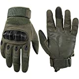 WTACTFUL Touchscreen Motorcycle Tactical Full Finger Gloves for Airsoft Paintball Cycling Motorbike ATV Hunting Hiking Riding Racing Climbing Operating Work Outdoor Sports Gloves Size Medium Green