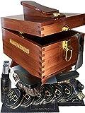 Coffret d'entretien pour chaussures en cuir, daim et nubuck | kit de cirage universel pour toutes les couleurs de chaussures | Set de produits et accessoires de nettoyage | Boîte de rangement en bois