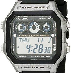 Casio Men's AE-1300WH-8AVCF Illuminator Digital Display Quartz Black Watch 2