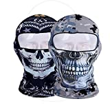 GANWAY Pack of 2 Outdoor Sports Sun Balaclavas Headwear Cycling Motorcycle Hat Camo Ski Mask Hood Skull Cap for Airsoft Hunting Fishing Masks