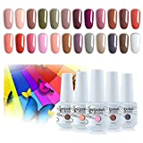 Vishine Vernis à Ongles Semi permanent Vernis Gels UV LED Soak Off Lot de 24 flacons Kit Manicure...