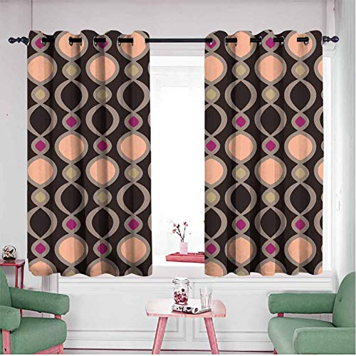 hengshu Blackout Curtains for Bed room Thermal Insulated Soundproof Curtain W52 x L36 Inch