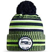 Felt with embroidered team logo patch on the front. Embroidered 100 Year NFL logo on back WINTERERA technology warm, knitted insulation Fold-up cuff with Pom. One Time Removable Pom Unique team color striping design One size fits most. Officially lic...
