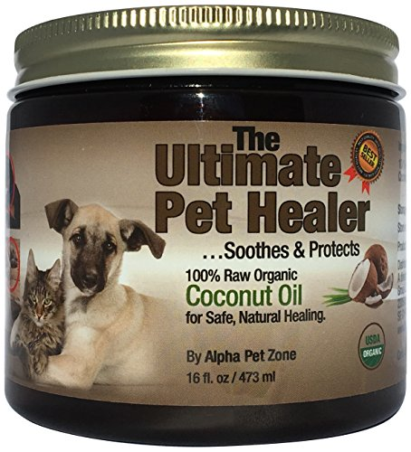 ALPHA PET ZONE Coconut Oil for Dogs & Cats, 16...