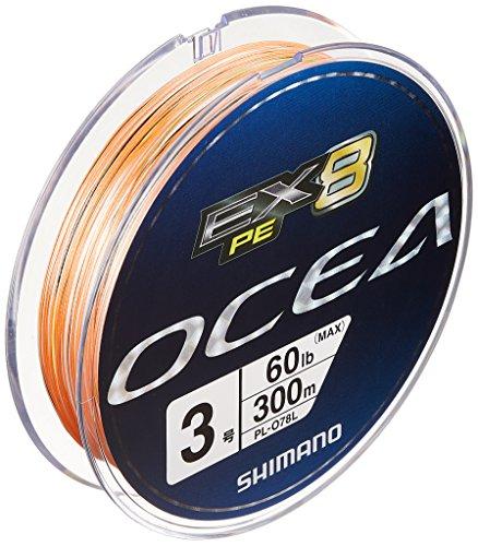 シマノ(SHIMANO) PEライン オシア EX8 300m 3号 60.0lb マルチカラー PL-078L 釣り糸