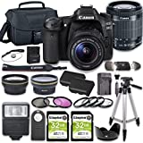 Canon EOS 80D DSLR Camera Bundle with 18-55mm STM Lens + 2pc Kingston 32GB Memory Cards + Accessory...