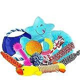 Dog Rope Toys Dog Teething Toys Best Chew Toys for Teething Puppy 12 pcs Gift Set
