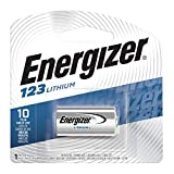 Energizer 123 Lithium Batteries, 3V CR123A Lithium Photo Batteries (1 Battery Count)