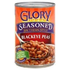 Glory Foods, Seasoned, Blackeye Peas, 15oz Can (Pack of 6)