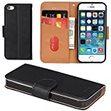 Aicoco Coque iPhone 5, Coque iPhone 5S, Étui Housse en Cuir Flip Case Cover...