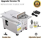 96W Mini Precision Table Saws, Multifunctional Wood Working Bench 7000 / min Lathe Electric Polisher Grinder for DIY Handmade Wooden Model Crafts, Printed Circuit Board Cutting