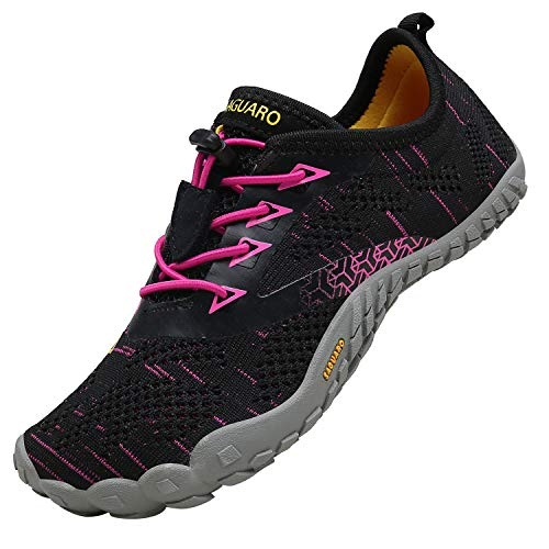 SAGUARO Mujer Zapatos Minimalista Zapatos de Agua Respirable Zapatos de Deportes Acuaticos Calzado de Natación Comodos Escarpines Playa Hombres, Rojo 37