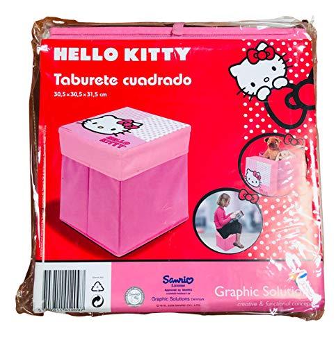 Sgabello quadrato Hello Kitty 30,5 x 30,5 x 31,5