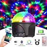 Disco Light Bluetooth Speaker, Sound Actived Rotating DJ Strobe 16 Lights Modes for Parties,Club,Karaoke,Wedding,Birthday and Kids (Built in Battery)-WISHWILL