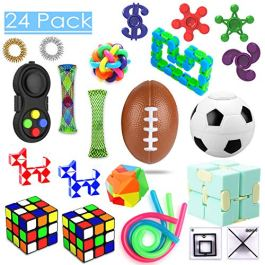 24 Pack Sensory Toys Set, Relieves Stress and Anxiety Fidget Toy for Children Adults, Special Toys Assortment for Birthday Party Favors, Classroom Rewards Prizes, Carnival, Piñata Goodie Bag Fillers