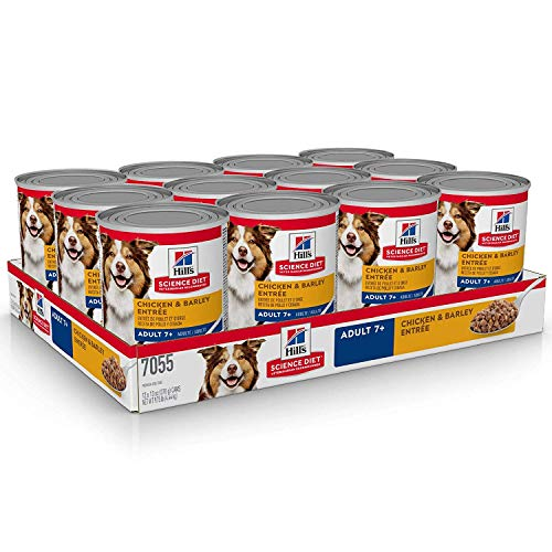 Hill's Science Diet Hill's Science Diet, Alimento para Perro Adulto 7+ años, Húmedo (lata) 37 gr., 2 Can