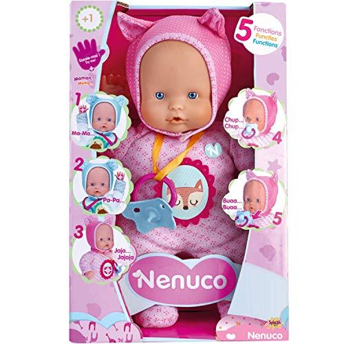 Nenuco - Blandito 5 Funciones Rosa, hace sonidos como un beb