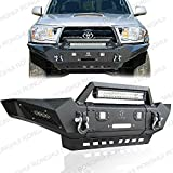 Ronghui 2005-2015 Tacoma Front bumper ( with Winch Plate and LED Aluminum Lights and D-Ring)