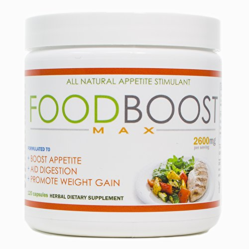VH Nutrition   FoodBoost MAX   Appetite Stimulant for Men and Women   Natural Weight Gain Pills - 30 Day Supply - 120 Capsules