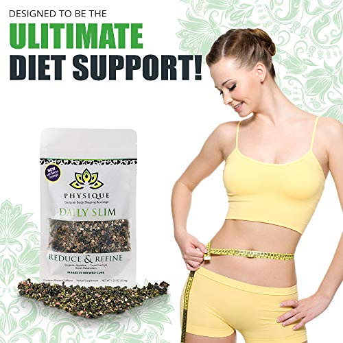 Herbal Tea Weight Loss Cleanse: Daily Slim Detox Tea for Natural Weight Loss - Slimming Diet Aid Tea with Appetite Suppressant - Metabolism Booster and Fat Burning Supplement -Over 150 Servings - 8 oz 9