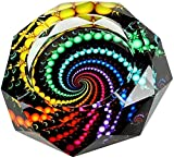 YANXUS Cigarette Ashtray Ash Holder Case-Creative Crystal Cigarette Ashtray for Indoor or Outdoor Use Ash Holder for Smokers Desktop Smoking Ash Tray for Home Office Decoration (Multicolor)