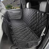 4Knines Dog Seat Cover with Hammock for Cars, Small Trucks, and SUVs - Heavy Duty, Non Slip, Waterproof -Black Regular - USA Based Company