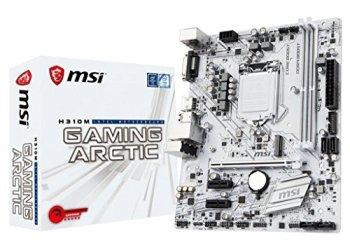 MSI Performance GAMING Intel Coffee Lake H310 LGA 1151 DDR4 Onboard Graphics Micro ATX Motherboard (H310M GAMING ARCTIC)