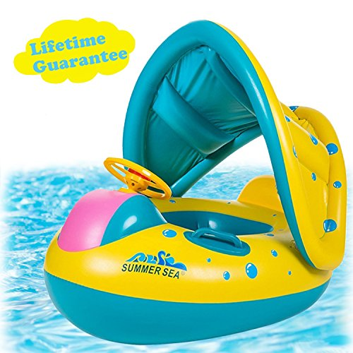 punada Baby Pool Float with Canopy...