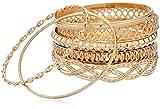 GUESS 'Basic' Gold 7 Piece Mixed Bangle Bracelet