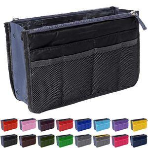 Handbag Organizer by Gaudy Guru – Insert Purse Organizer – Bag in Bag – 13 Pockets – Multiple Colors