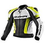 SHIMA STR JACKET YELLOW FLUO, Moto Courses Perforé Sport Costume de moto en cuir - la veste...
