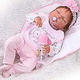ZIYIUI 23' Full Body Silicone Vinyl Reborn Doll Lifelike Anatomically Correct Baby Girl Doll