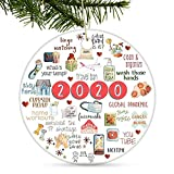 Tmflexe 2020 Christmas Ornaments Decorations Tree Hanging Ornaments Kits Accessories Surviving Souvenir Gift for Home Indoor Outdoor Decor (Kitchen)