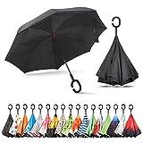 Sharpty Inverted Umbrella, Double Layer Windproof Umbrella, Reverse Umbrella, Umbrella with UV...