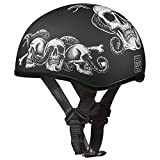 Daytona Helmets D6-SS 'Skull Cap' with Snakes and Skulls Half Face Helmet - Large