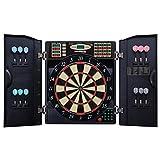 Bullshooter by Arachnid E-Bristle 1000 LED Electronic Dartboard Cabinet Set