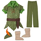 Disney Peter Pan Costume for Kids Size 9/10 Green
