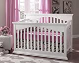 Suite Bebe Bailey 4 in 1 Convertible Crib in White - Quick Ship
