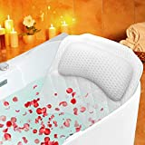 Almohada de baño,MAQUITA Cojín de Baño con 6 Ventosas Antideslizante de tecnología malla de...